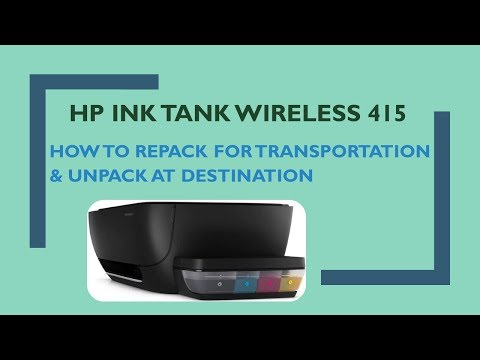 HP Ink Tank Series Printers : Repacking the printer for transportation & Unpacking at Destination