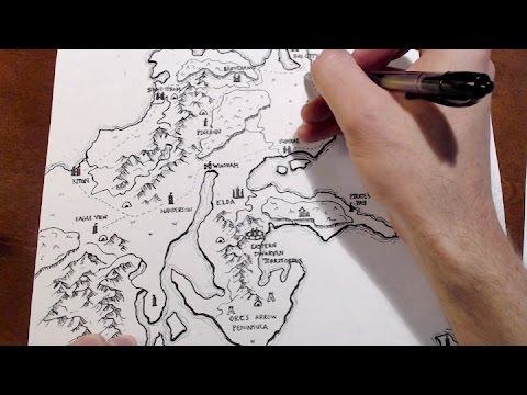 Drawing a D&D World Map - From Start to Finish