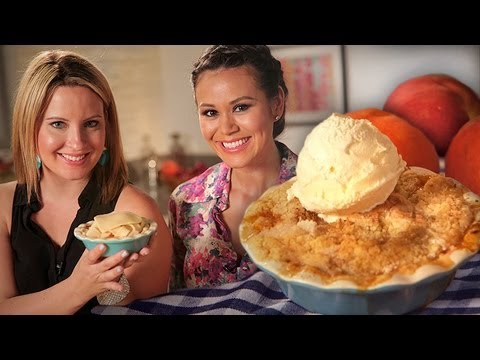 Mini Peach Cobbler with Lovely Lady Cakes | Dessert Ideas | Just Add Sugar