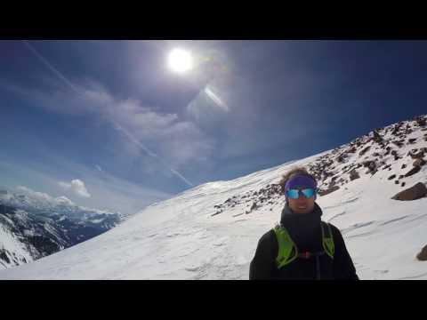 Skiing the back side of Pipeline at Snowbird Utah