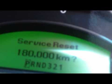 How to reset holden vy vz commodore service reminder