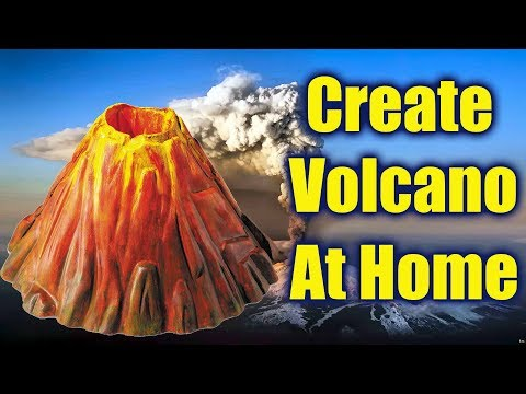 How to make Erupting volcano at home for Science project // Art and Craft