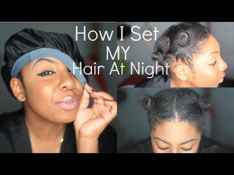 How To Keep Natural Hair Stretched (Night Time Hair Routine)   NaturallyNellzy