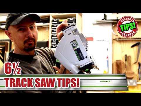 6.5 TRACK SAW TIPS! (Festool TS55 Track Saw, Dewalt, Makita Plunge Saw etc.) GHTL#11 [85]