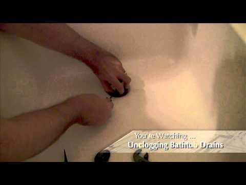 How to Unclog a Slow-draining Bathtub Drain