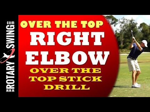 Over the Top Golf Swing Cure - Right Elbow Tip
