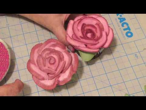 Burgundy Shadowed Buttercream Rose Cupcake by RaMona Timonere!