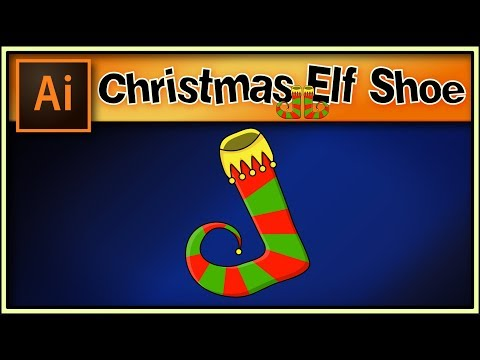 Christmas elf shoe - Great Adobe Illustrator tutorial