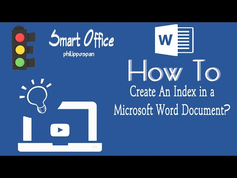 Create An Index In Word 2016 Document