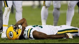 Davante Adams Knocked Out after Trevathan Hit  HD