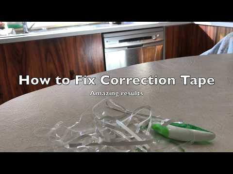 How to Fix Broken Correction Tape (QUICK AND EASY)