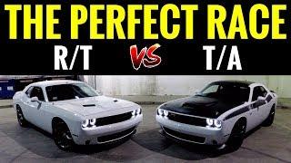 Dodge Challenger TA 392 6.4L vs Challenger RT 5.7L | STREET RACE!