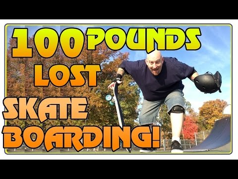 I LOST 100 POUNDS SKATEBOARDING ! Skate R Diet Weight Loss Vlog Update with Skatemaster Nate