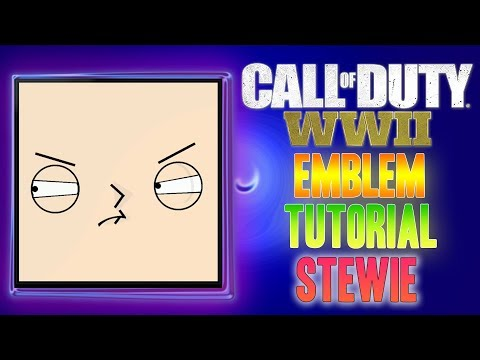Stewie Griffin ( Family Guy ) - Call of Duty COD WW2 WWII ( EASY ) Emblem Tutorial