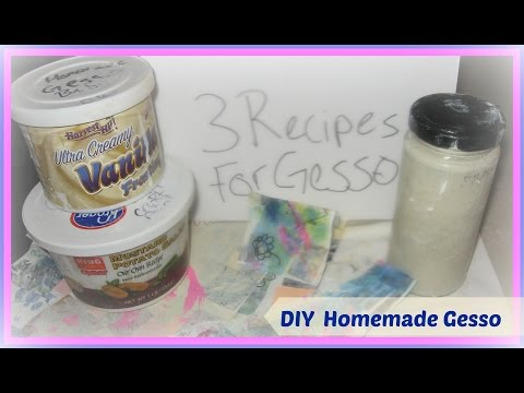 How to Make Homemade Gesso Tutorial/ Using DIY Gesso and different Art Mediums