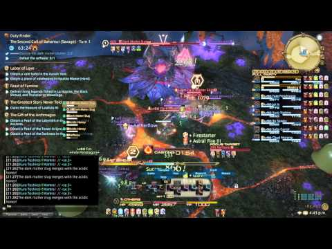 FFXIV ARR: Second Coil of Bahamut Turn 1 (Savage) - BLM PoV