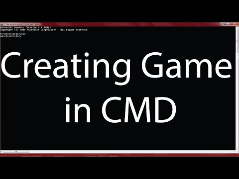 Creating game in CMD
