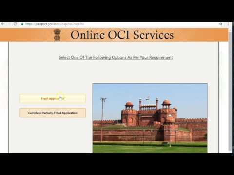 How to apply for OCI in lieu of PIO.