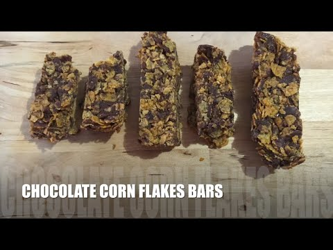 Chocolate Corn Flake Bars Recipe || Only 4 ingredients (ENG)