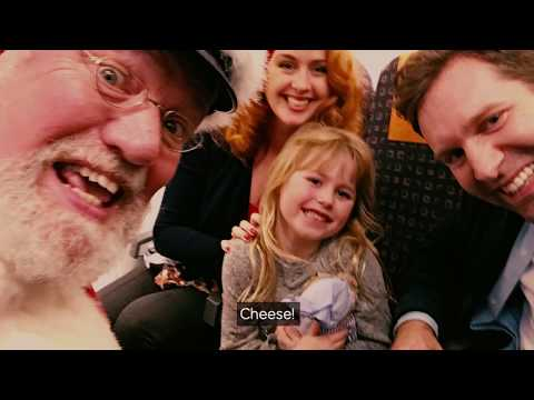 easyJet's in-flight grotto with Captain Claus