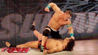 Rusev confronts John Cena before WWE Fastlane: Raw, February 16, 2015