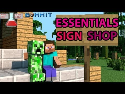 How To Make Sign Shops With Essentials [Minecraft] (EASY)