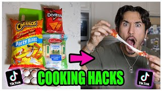 We TASTED Viral TikTok Cooking Life Hacks .... (THEY WORKED!)