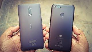 Mi A1 vs Nokia 6 SPEED TEST COMPARISON!!