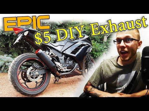 $5 DIY Awesome Scrap Metal Custom Motorcycle Exhaust Build