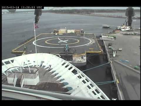 Assembly of Storm Barrier on SpaceX Barge/ASDS/JRTI on 2015-03-14