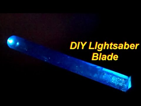 How to Make a Simple DIY Lightsaber Blade with a Flashlight