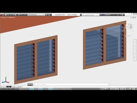 AUTOCAD 3D HOUSE  -  CREATING A LOUVERED VENTILATOR | AUTOCAD 3D VENTILATOR | AUTOCAD RENDERING