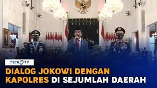 Dialog Virtual Presiden Jokowi dengan Kapolres di Sejumlah Daerah