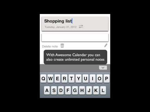 Awesome Calendar for iOS (iPhone, iPod Touch, iPad