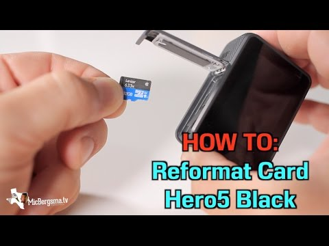 Hero5 / Hero6 : Reformat the memory card - GoPro Tip #549