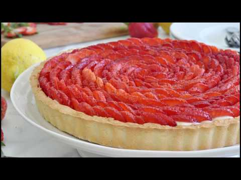Picture-Perfect Strawberry Rose Tart by Cooking with Manuela
