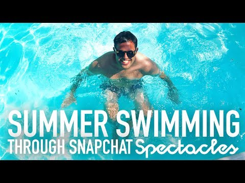 Swimming with Snapchat Spectacles