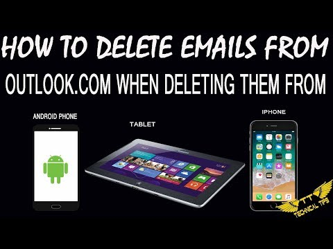 Emails aren't deleted off outlook.com when deleting from iPhone, Android Phone or Tablet