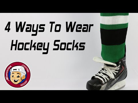 How To Wear Hockey Socks - Tendon Tuck, Full Tuck, Flop