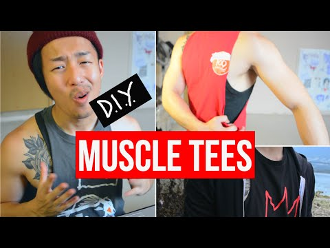 HOW TO CUT A MUSCLE TEE OR T-SHIRT INTO A TANK TOP DIY  (LAURDIY PARODY)