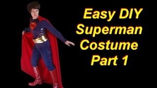 DIY Superman Costume Part 1: Cheap and Easy Shirt and S Emblem