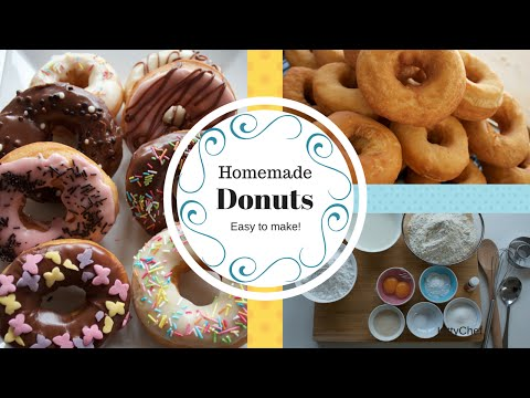 How to make Donuts, and Donut glaze, Make easy Homemade Donuts