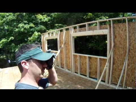 Framing Walls for the 2nd Floor Day 2 - 26 - My Garage Build HD Time Lapse