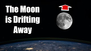 The Moon is Drifting Away: Tidal Locking