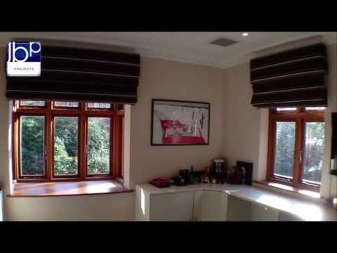 Existing Roman Blinds converted to Electric and Automated