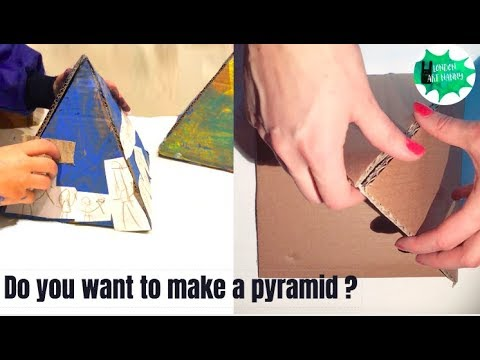 How to make a pyramid // Kids art tutorial