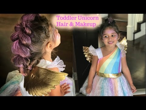 TODDLER UNICORN HAIR & MAKEUP | PERFECT FOR HALLOWEEN!