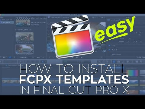 How to Install Final Cut Pro X Plugins (FCPX Templates)