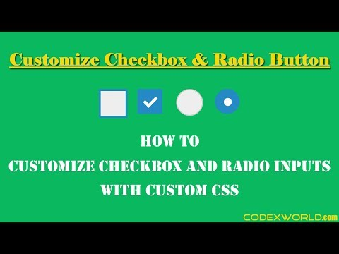 Customize Checkbox and Radio Inputs with CSS