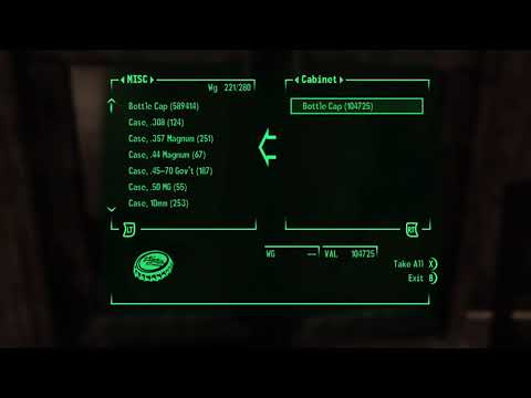 Fallout New Vegas caps duplication glitch